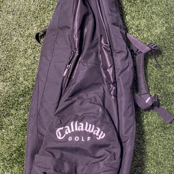 Used Callaway Black Golf Bag Travel Case with Wheels