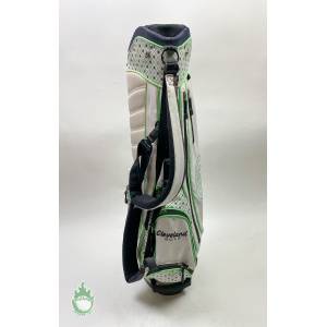 Used Cleveland Ladies Golf Cart/Carry Stand Bag 7-Way White and Green